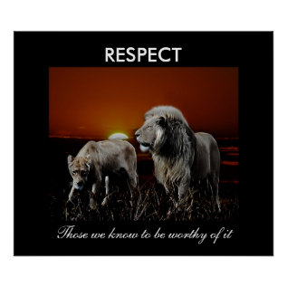 Respect Poster at Zazzle