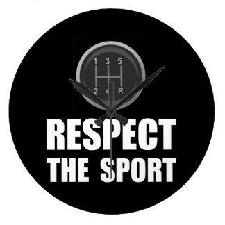 Respect Racing Large Clock