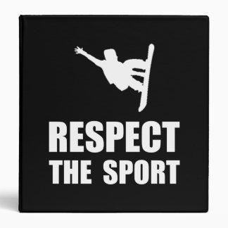 Respect Snowboarding Vinyl Binder