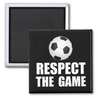 Respect Soccer 2 Inch Square Magnet