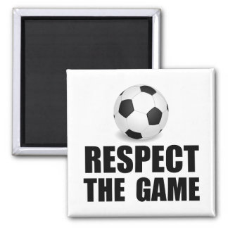 Respect Soccer 2 Inch Square Magnet