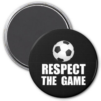 Respect Soccer 3 Inch Round Magnet