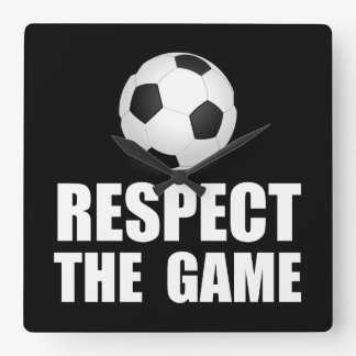 Respect Soccer Square Wall Clock