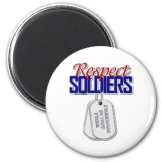 Respect Soldiers 2 Inch Round Magnet