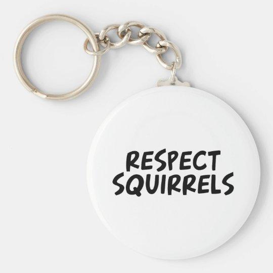 Respect Squirrels Keychain
