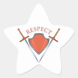 Respect Star Sticker