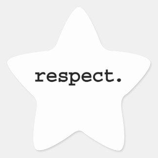 respect. star sticker