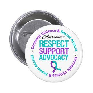 Respect Support Advocacy Domestic Violence Pinback Button