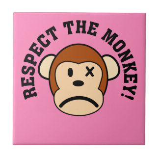 Respect the angry monkey or face his wrath ceramic tile