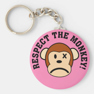 Respect the angry monkey or face his wrath keychain