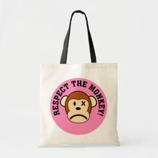 Respect the angry monkey or face his wrath tote bag