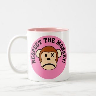 Respect the angry monkey or face his wrath Two-Tone coffee mug