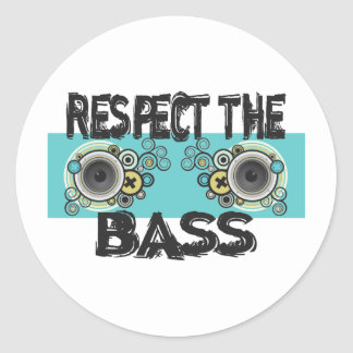 Respect The Bass Classic Round Sticker
