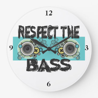 Respect The Bass Large Clock