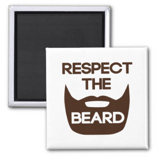 Respect The Beard 2 Inch Square Magnet