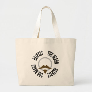 Respect the Beard - Brown Goatee Canvas Bags