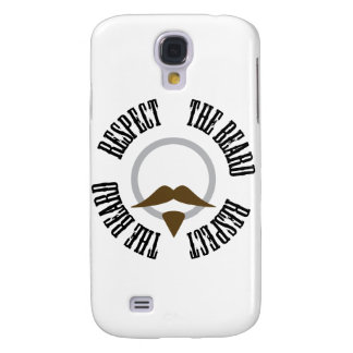 Respect the Beard - Brown Goatee Galaxy S4 Case