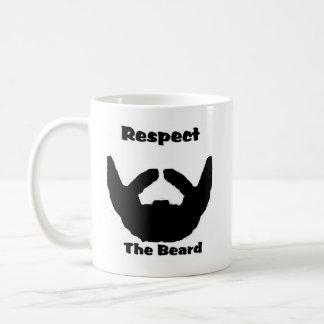 respect the beard coffee mug