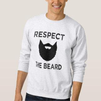 Respect the Beard funny men's sweater