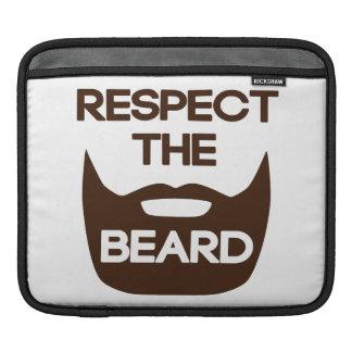 Respect The Beard iPad Sleeve