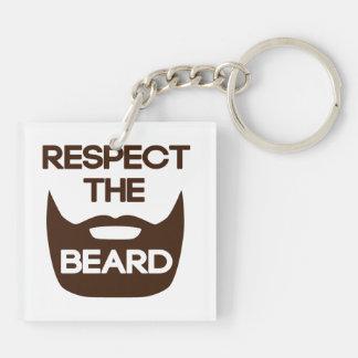 Respect The Beard Keychain