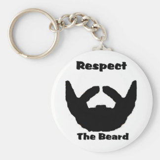 respect the beard key chain