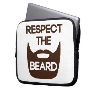 Respect The Beard Laptop Sleeves