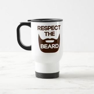Respect The Beard 15 Oz Stainless Steel Travel Mug