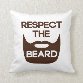 Respect The Beard Pillows