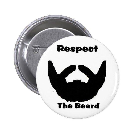 respect the beard pinback button