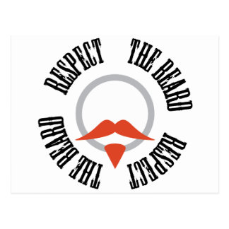 Respect the Beard - Red Goatee Postcard