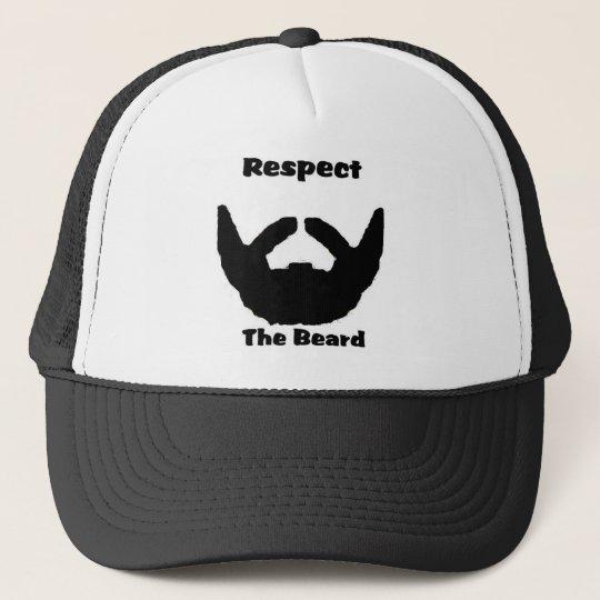 5316868df7a respect the beard trucker hat | Zazzle.com