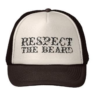 Respect the beard trucker hat for men