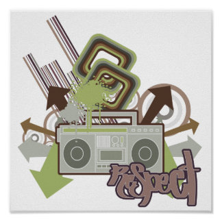 Respect the Beat Boom Box Poster