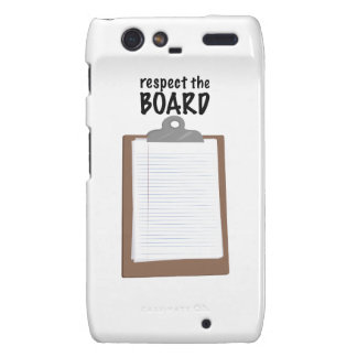 Respect The Board Motorola Droid RAZR Covers