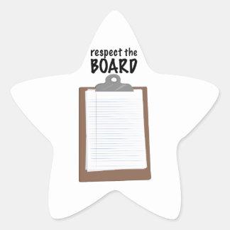 Respect The Board Star Stickers