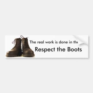 Respect the Boots Car Bumper Sticker