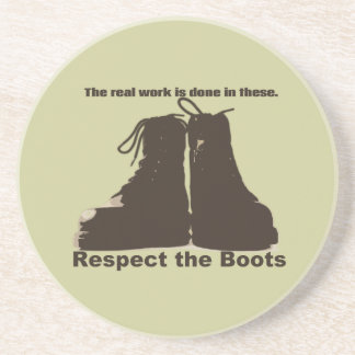 Respect The Boots : What real workers wear. Drink Coasters