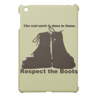 Respect The Boots : What real workers wear. Cover For The iPad Mini