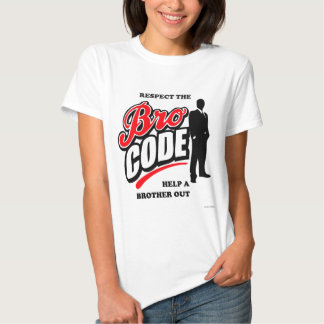 Respect the Bro Code Tee Shirts