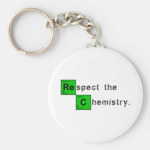 Respect The Chemistry Basic Round Button Keychain