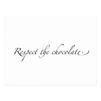 Respect the Chocolate Postcard