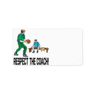 Respect The Coach Address Label