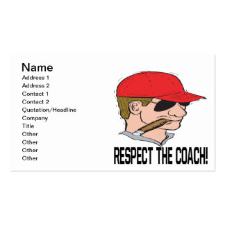Respect The Coach Business Cards