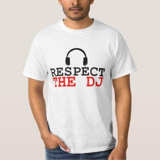 Respect the dj disc jockey music headphones design T-Shirt