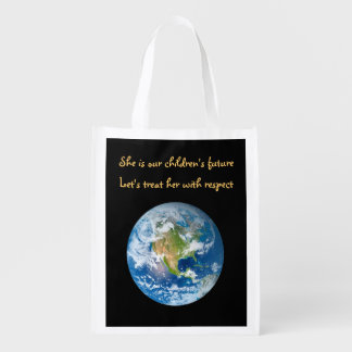 Respect the Earth - Earth Day Grocery Bag
