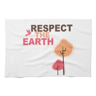 Earth day Kitchen Towel