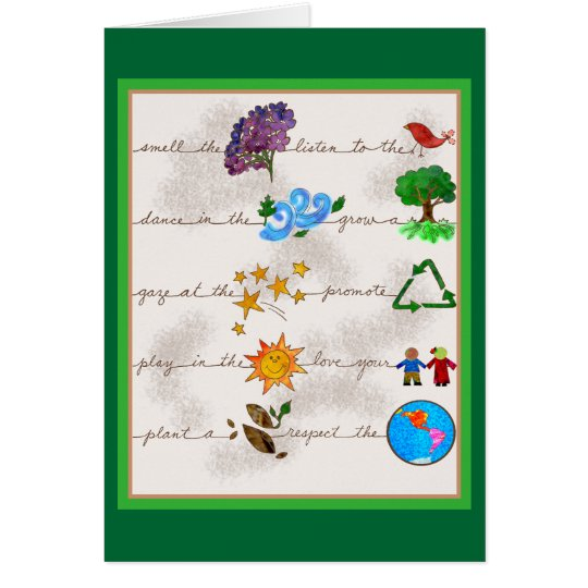 Respect the Earth, Love your Children Note Card