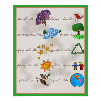 Respect the Earth, Love your Children Print