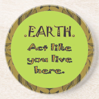 respect the earth message beverage coasters